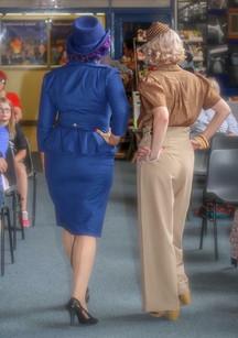 Marlene Blue Topper & Clouseau Trilby
