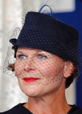 Blue Veiled Topper Crown