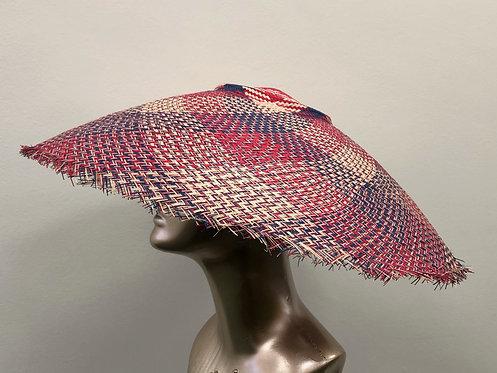 Red, White & Blue Straw Sun Hat