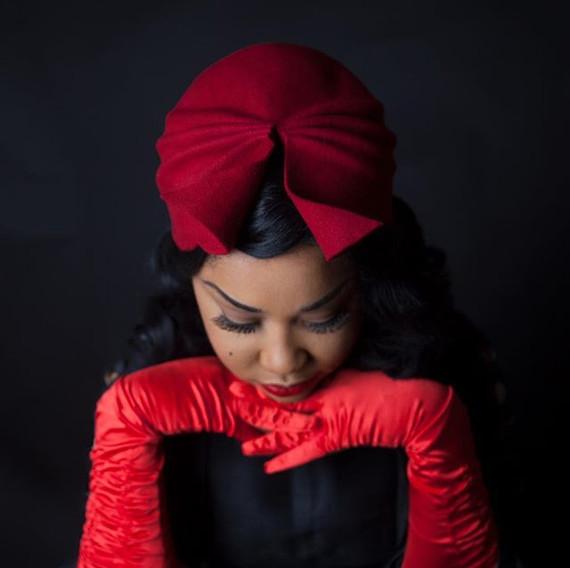 Red Land Girl Turban