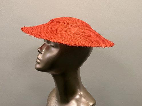 Orange Straw Sun Hat