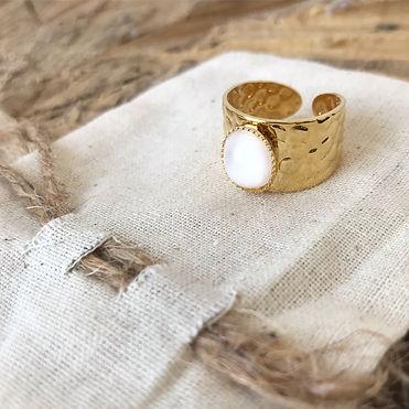 Bague en laiton doré à l'or fin