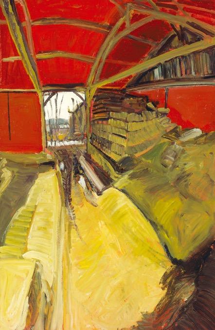 Grange_d'hiver,_1989,_acrylique_et_huile_sur_papier_marouflé_sur_toile,_120_x_80_cm_edited