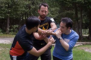 Peter Lane from Zombie survival camp teaching zomjitsu