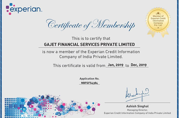 GAJET FINANCIAL SERVICES PRIVATE LIMITED