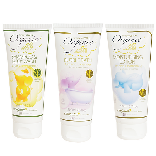 organic childs bath set