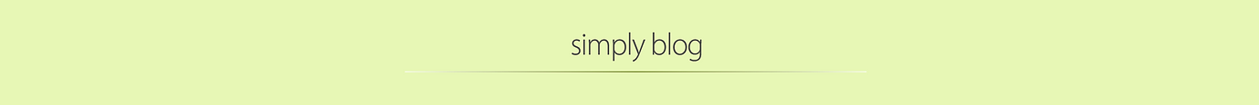 Simply Blog header