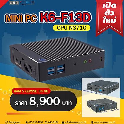 """Mini PC K6-F13D (RAM4/SSD64GB)""""K10โฉมใหม่"""""""