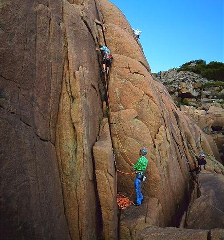 Traditional climbing - Lofoten
