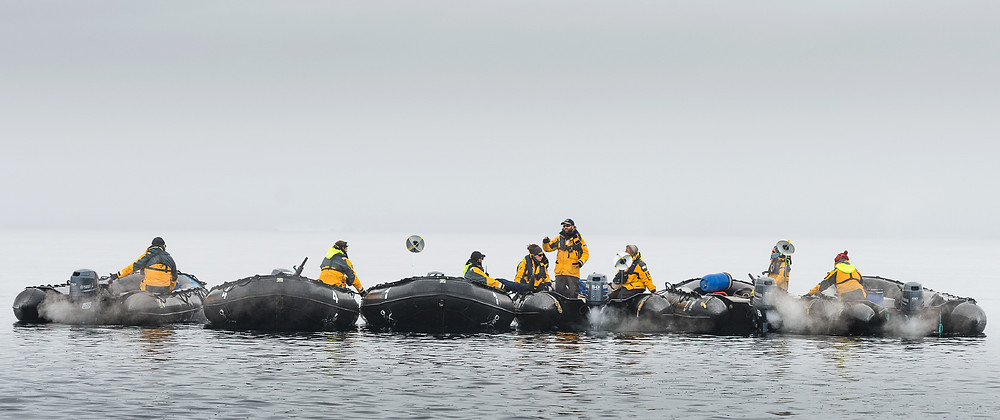 zodiac cruise, antarctica, yamaha outboard, mariano curiel, guide training, zodiac driver, expedition guide academy, small boat driver, expedition guide, arctic, svalbard