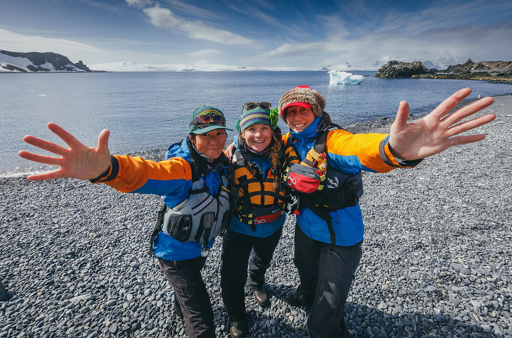 Niki Trudeau, expedition guide, Quark, quark expeditions, antarctica, iceberg, expedition guide