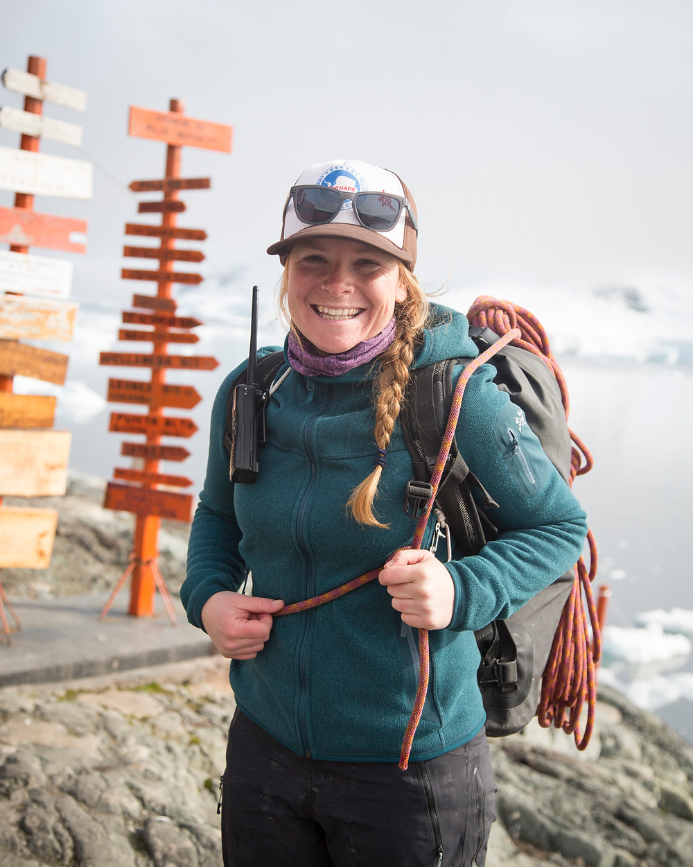 Niki Trudeau, expedition guide, Quark, quark expeditions, training and development, expedition guide, science base, antarctica, polar regions