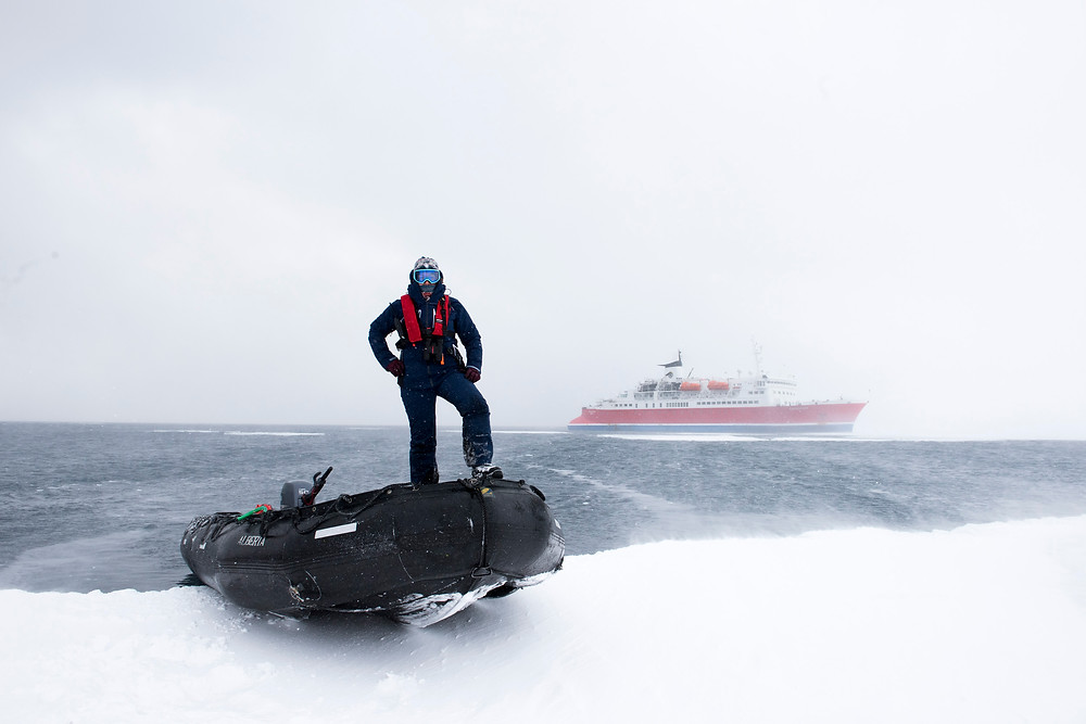 expedition guide academy, zodiac driver, zodiac training, antarctica, sea ice, expedition guide training, storm, sea ice, fast ice, expedition guide