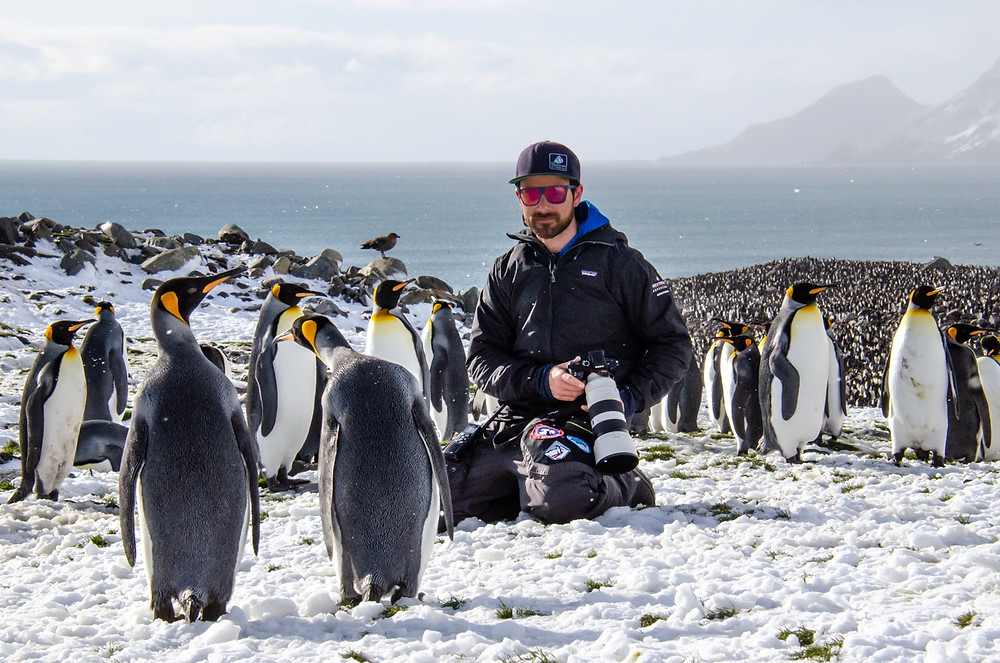 Nicolas Danyau, polar guide, south georgia, expedition guide academy, expedition guide training, zodiac driver, expedition training, king penguin