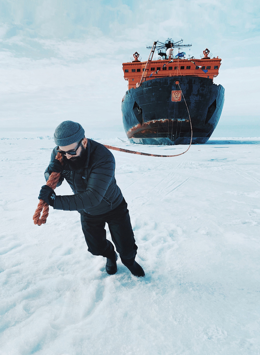 Icebreaker, north pole, 50 years of victory, sea ice, john bozinov, expedition guide, expedition guide academy, expedition guide training, photographer, arctic