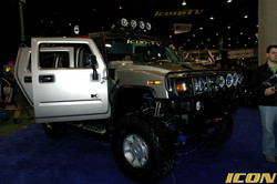 HUMMER CRITICAL MASS ICON AT CES SHOW