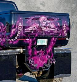 Critical MASS audio Truck UL12 Amplifiers Components rear