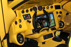 yellow show car interior