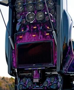 Critical MASS audio Truck UL12 Amplifiers Components trunk