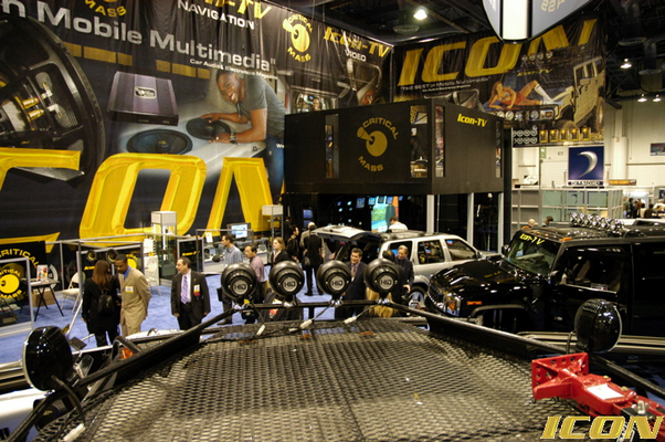 PIC FROM TOP OF HUMMER CRITICAL MASS ICON AT CES SHOW