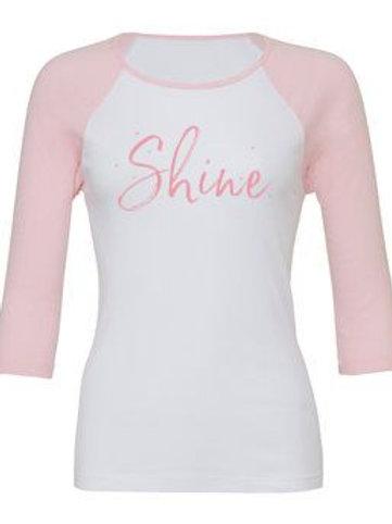 Shine Hair Salon 3/4 sleeve T-shirt