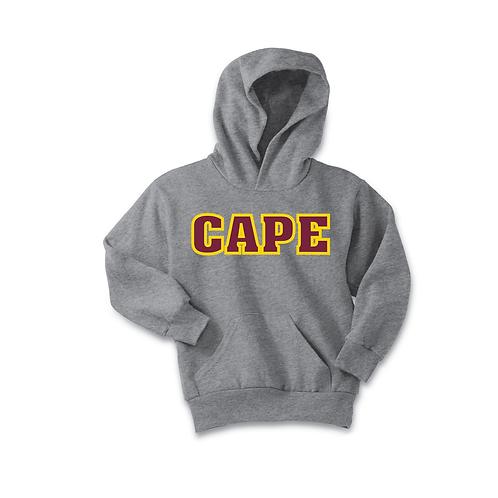 Cape Wear Fleece Hooded Sweatshirt