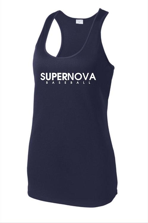 Supernova Baseball Ladies Racerback Tank