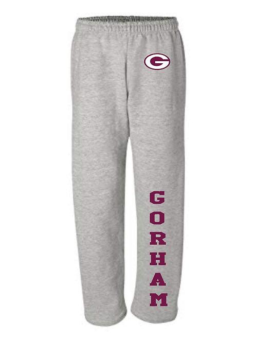 Gorham Football Youth Cotton Open Bottom Sweatpants