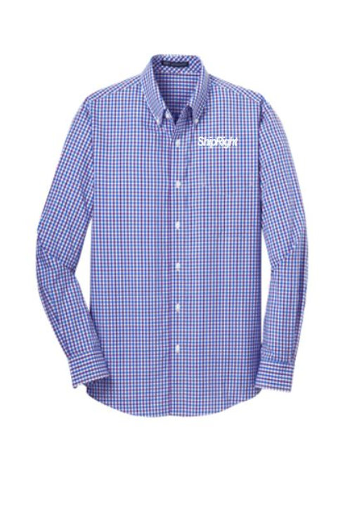 Ship Right Solutions Long Sleeve Gingham Easy Care Shirt
