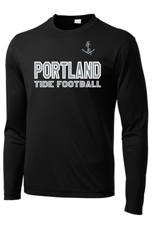 Portland Tide Football Performance Long Sleeve T