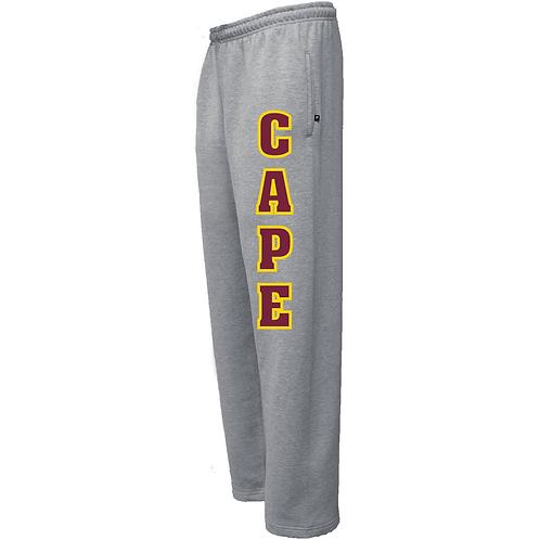 Cape Wear Open Bottom Pocketed Sweatpants