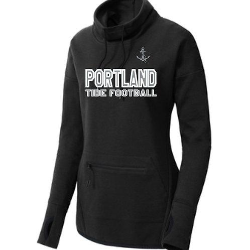 Portland Tide Football Cowl Neck Pullover