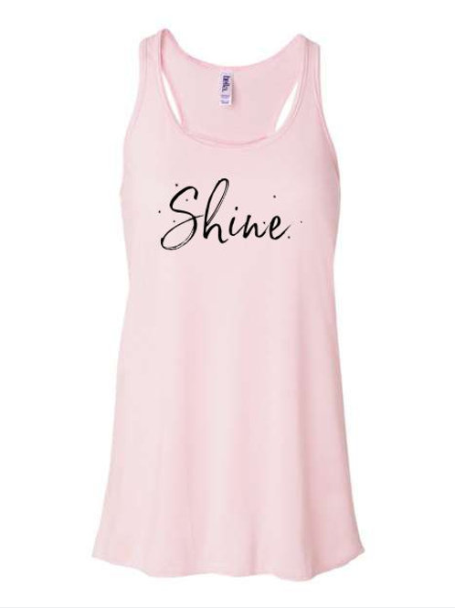 Shine Hair Salon Ladies Flowy Racerback Tank
