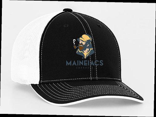 Maineiacs Cornhole Flexfit Trucker Cap