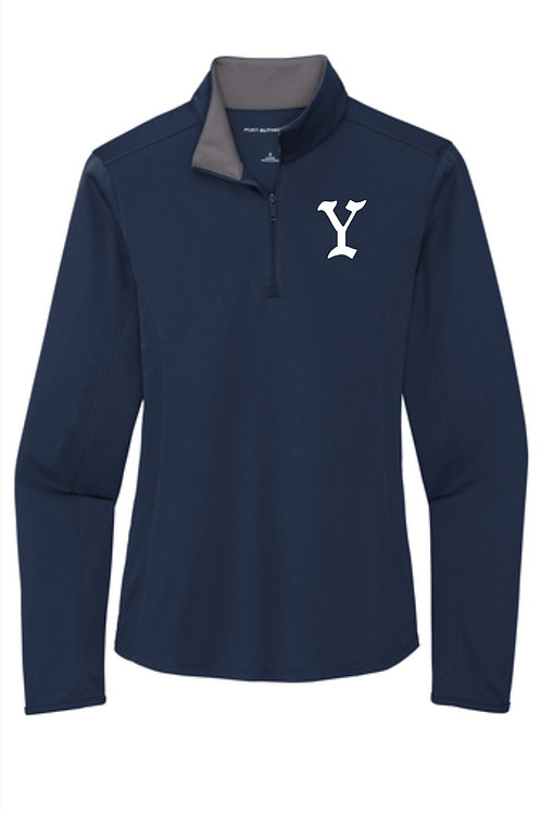 Yarmouth LL Women's Solid 1/4 zip