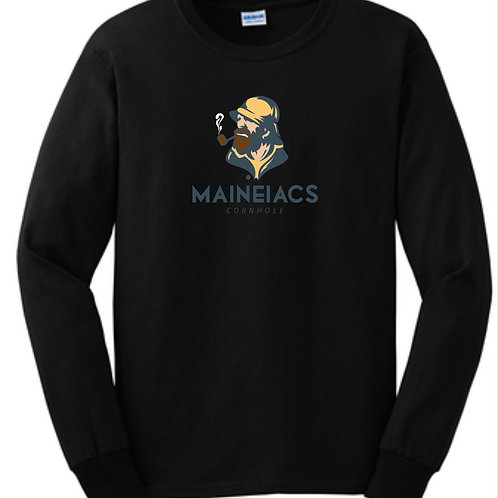 Maineiacs Cornhole Cotton Long Sleeve T-Shirt