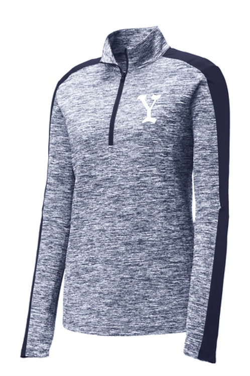 Yarmouth LL Ladies Electric Heather 1/4 zip