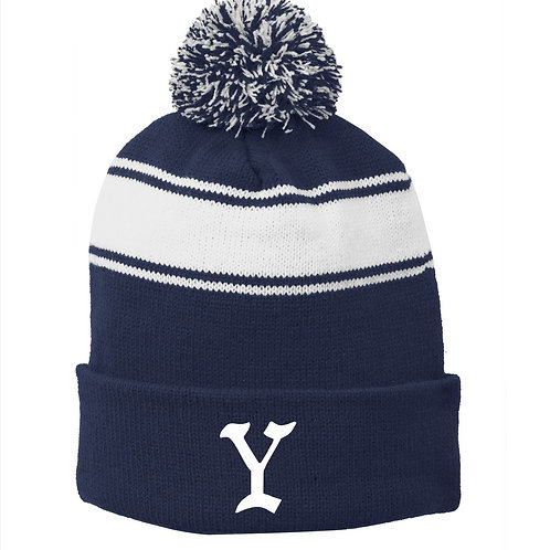 Yarmouth Little League Stripe Pom Pom Beanie