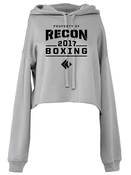 Recon Fitness Ladies Crop Top Boxing Hoody