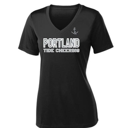 PYFL Cheering Women's Tri-blend Vneck T-shirt