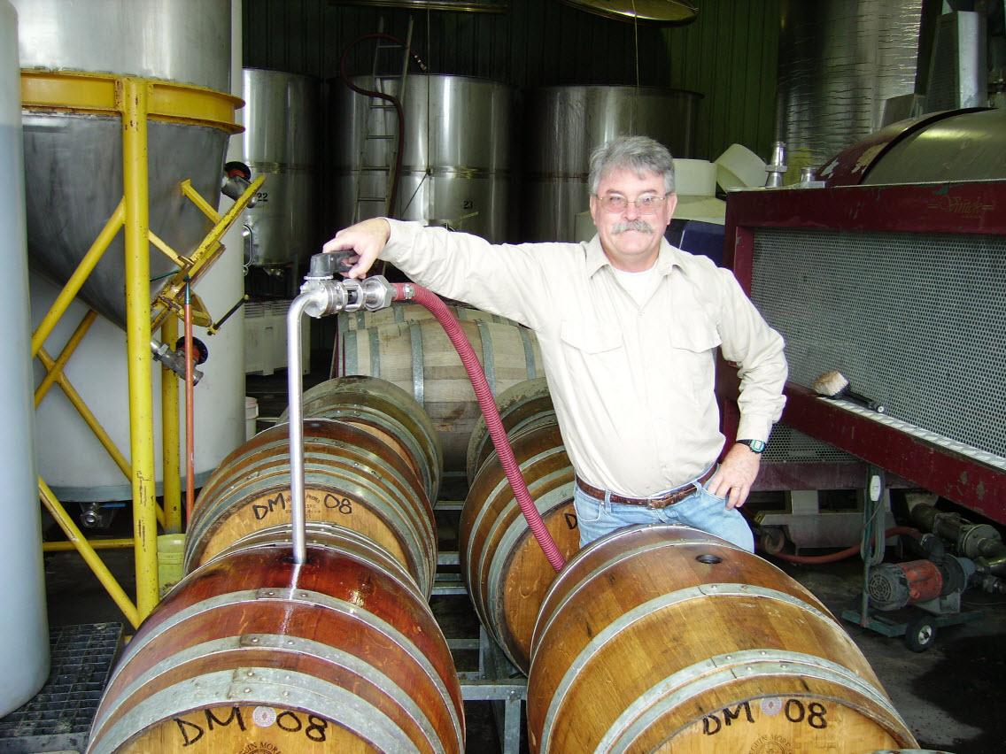 Dave at the barrels