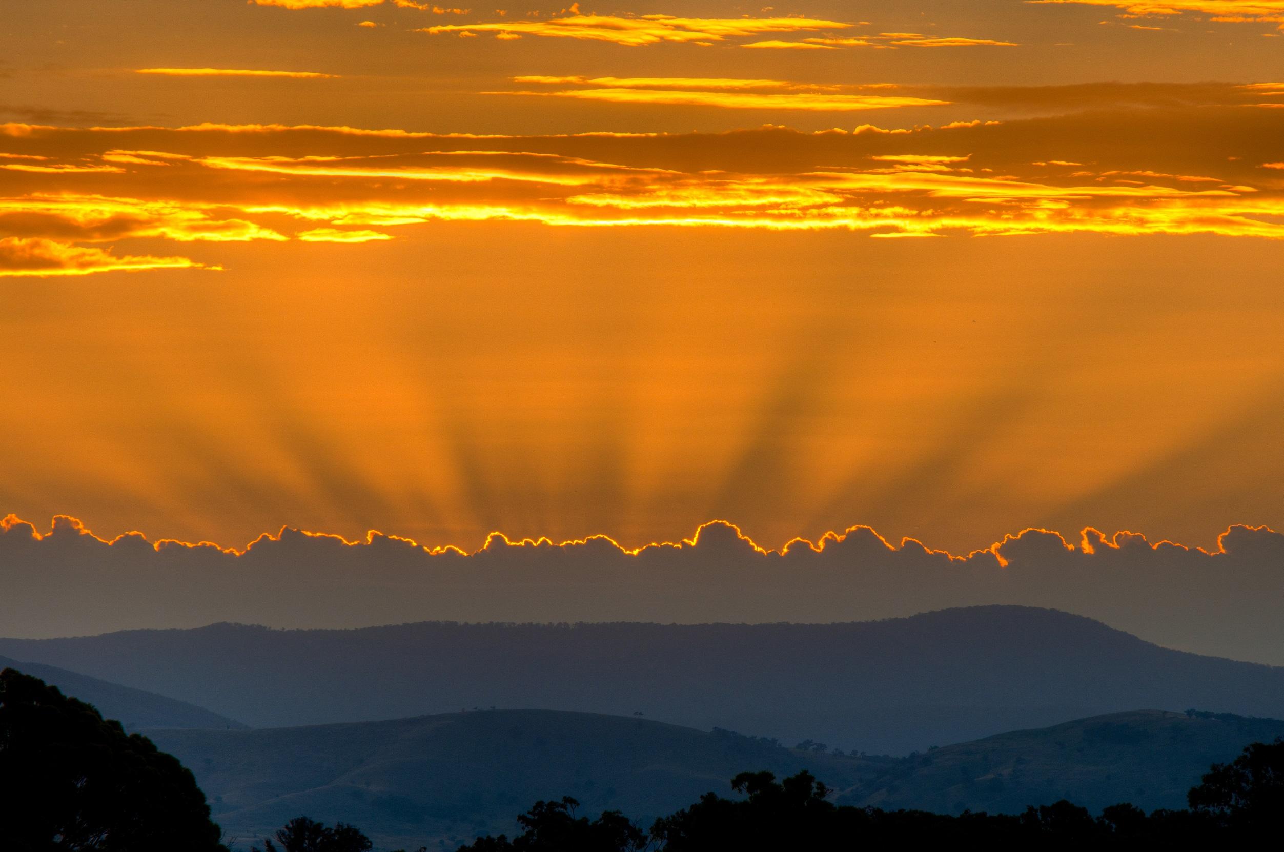 Sunset from Idyllic Hills Winery