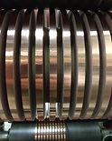 Narrow slit copper rolls