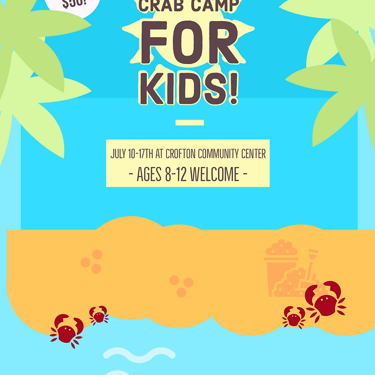 Crab Camp For Kids!