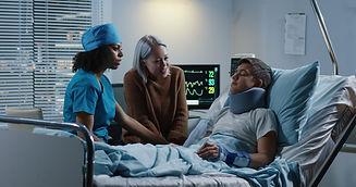 Medium shot of a female doctor discussin