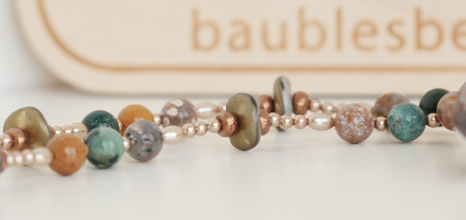 Ocean Jasper Mixed with Pearls