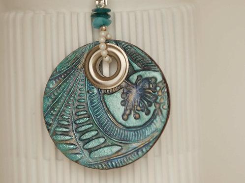 Statement Necklace Boho Mandala (22-inch)
