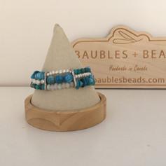 Bohemian Gemstone 3 Strand Bracelet