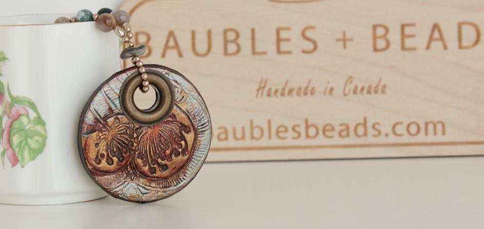 Boho Russet Mandala Necklace