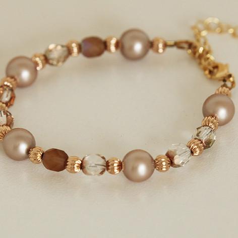 Rose Gold Swarovski Pearl Bracelet